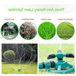 1-5Pcs Lawn Rotating Watering Sprinkler Irrigation 3 Nozzle