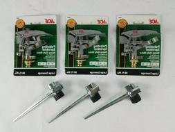 3 NEW ACE 70681 Heavy Duty Metal Pulsating Sprinkler Heads w