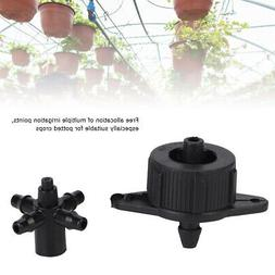 100Pcs 3/5 Barbed Hose Plastic Connector Garden Parts Drip I