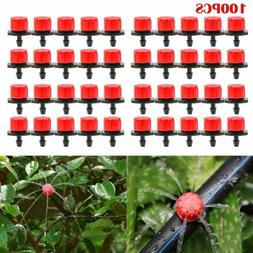 100X Adjustable Emitter Dripper Micro Drip Irrigation Sprink