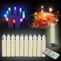 10X Warm/Color LED Xmas Flameless AA/AAA Tea Candle Light We