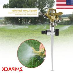 2/4PACK 360 Degree Rotation Lawn Watering Sprinkler for Gard