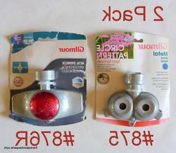 2 NEW Gilmour Metal Lawn Sprinklers #875 dual 30' & #876R 15