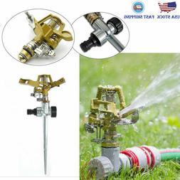2 PCS 360° Adjustable Lawn Sprinklers Garden Grass Metal Im