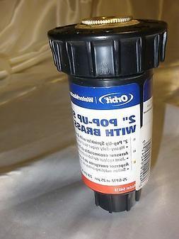 Orbit 2 Quarter Spray Pop-Up Sprinkler w/ Brass Twin-Spray N