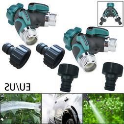 2 Way Hose Connector Splitter Parts On/Off Lever For Garden