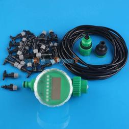 20M DIY Irrigation System Water Timer control Sprinkler Wate