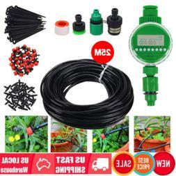 DIY Micro Drip Irrigation Self Plant Watering Garden Hose Sy