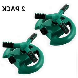 2PACK 360° Rotating Lawn Automatic Water Sprinkler Garden I