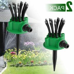 2x Auto 360 Rotating Lawn Water Sprinkler Watering Garden Ya