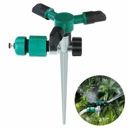 360 Degree Lawn Sprinkler 3-Arm Lawn Garden Sprinkler