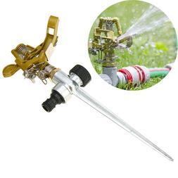 360 degree rotating water sprinkler garden lawn