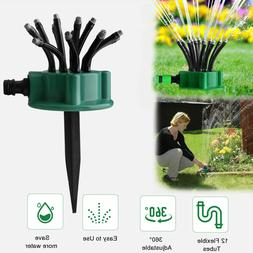 360° Flexible Lawn Sprinkler Automatic 12 Tubes Garden Wate