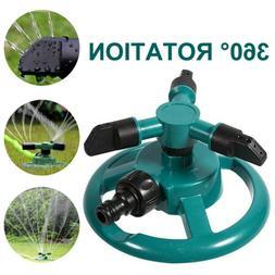 360° Rotating Garden Sprinkler Lawn Automatic Watering Irri