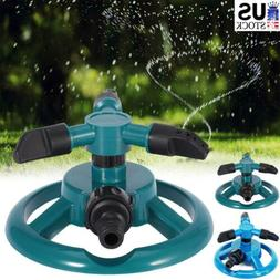 360° Rotating Heads Garden Lawn Sprinkler Automatic Waterin