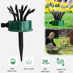 360° Flexible Lawn Sprinkler Automatic 12 Tubes Garden Wate
