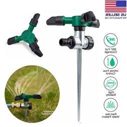 360° Rotating Lawn Sprinkler Automatic Garden Watering Spik