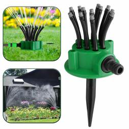 360° Rotation Lawn Sprinklers Automatic Watering Sprayer No