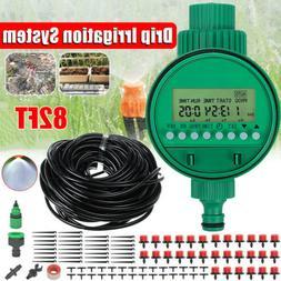 49.2/82ft DIY Micro Drip Irrigation Timer Self Plant Waterin