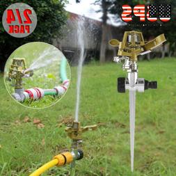 4pcs Metal Impulse Spike Water Watering Sprinkler Sprayer La