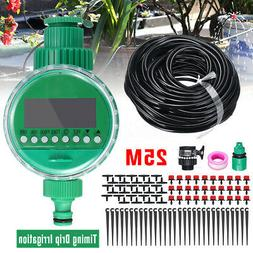 5-25M DIY Micro Drip Water Irrigation Auto Timer Self Plant