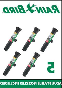 "5 Pack Rain Bird 1806 6"" Pop-Up Sprinkler with 15' 0-360 Adj"