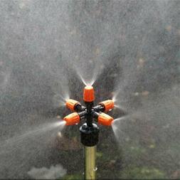 5X Home Garden Park Sprinkler System Sprays Water With 5 Spr