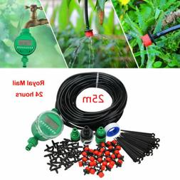 82ft automatic drip irrigation system kit timer