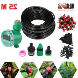 82ft Automatic Micro Drip Irrigation System Plant Self Water