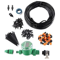82ft Automatic Water Drip Irrigation Kit Micro Plant Waterin