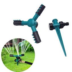 Automatic 360 Rotating Adjustable Garden Water Sprinklers Pr