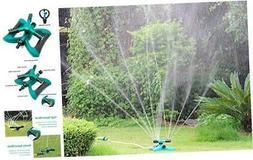 Blisstime Lawn Sprinkler, Automatic 360 Rotating Adjustable