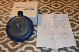 BRAND NEW IN BOX 8 PATTERN LAWN SPRINKLER IN BLUE COLOR