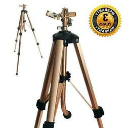 Brass Impact Tripod Sprinkler with Heavy Duty Brass Impact S