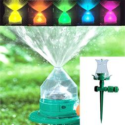 Aolvo LED 5 Colors Changing Lawn Sprinkler Automatic Garden