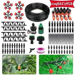 HANSILK 82ft DIY Adjustable Automatic Micro Irrigation Syste