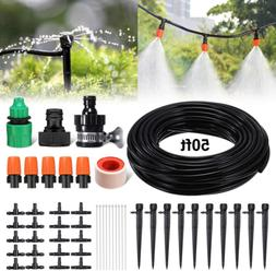 Drip Irrigation Kit 50ft/15m Garden Irrigation System Distri