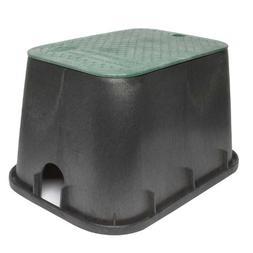 "Storm Drain FSD-120 Black 12"" Deep Sprinkler Valve Box and L"