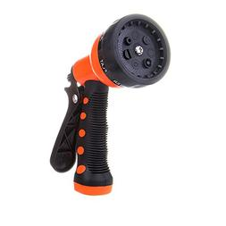 Garden Hose Nozzle Sprayer - Front Trigger - 7 Different Spr