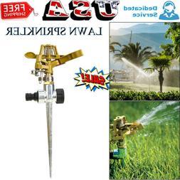 Garden Lawn Sprinkler 360° Rotating Adjustable Water Impuls