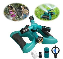 Gesentur Garden Sprinkler, Automatic 360 Rotating Adjustable