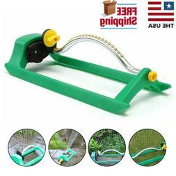 Garden Watering Oscillating Lawn Sprinkler 16 Holes Grass Ad