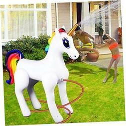 Giant Inflatable Sprinkler Unicorn for Outdoors Yard Lawn fo