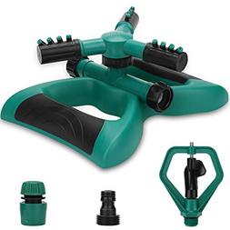 Enjoyee Impact Lawn Sprinkler, Automatic Water Sprinkler for