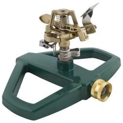 Melnor Impact Lawn Sprinkler, Metal Head & Sled, Adjustable