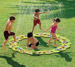"Inflatable Portable Splash Pad toys â?"" anthonygift 66in ca"
