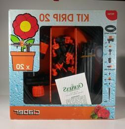 CLABER Kit Drip 20 Garden Quality Irrigation System Timer Dr