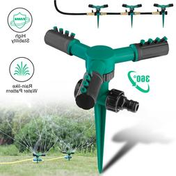 360° Auto Rotating Lawn Garden Sprinkler Watering System Wa