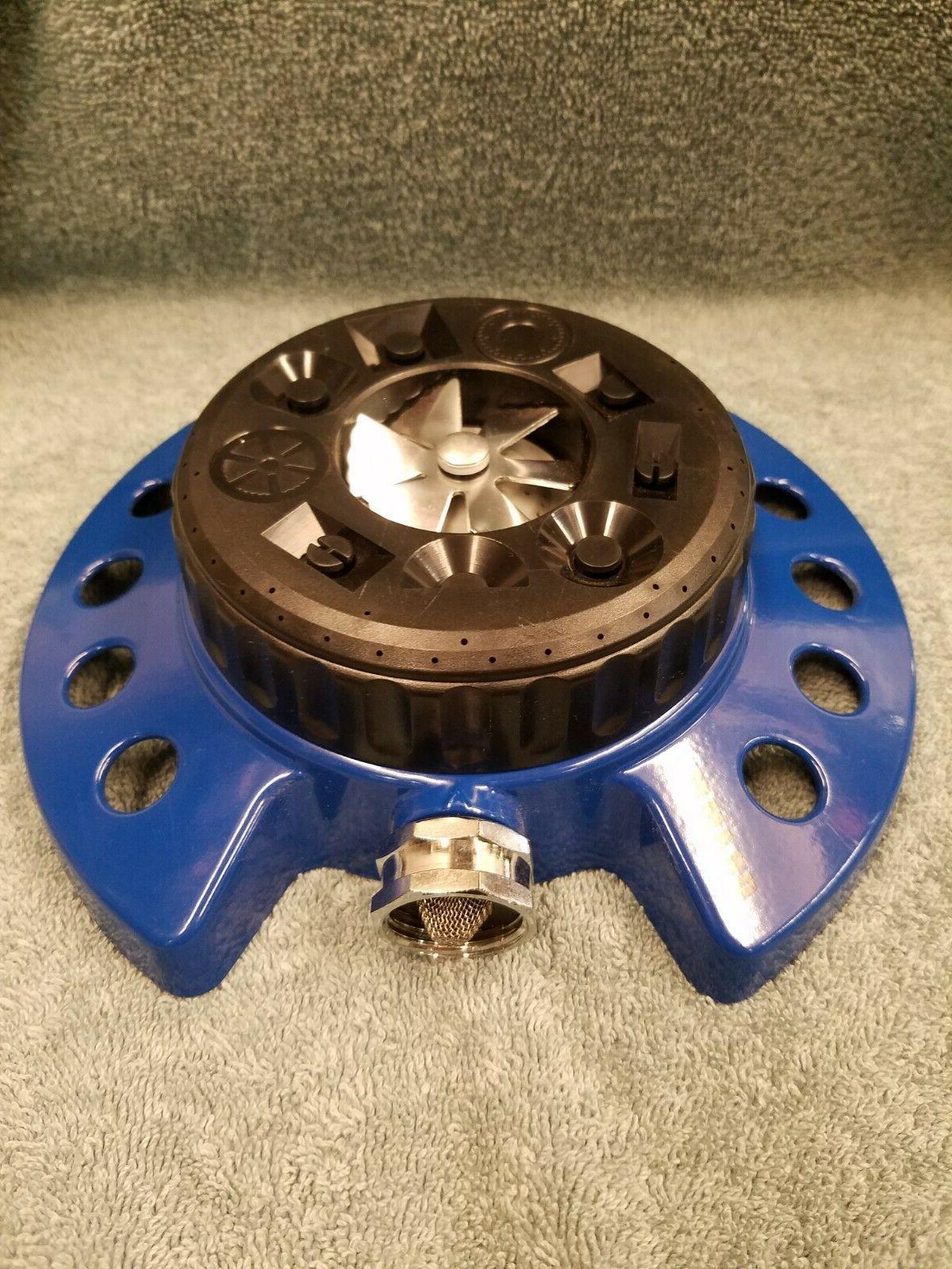 Dramm 10-15024 Turret Sprinkler, Blue 9-Patterns