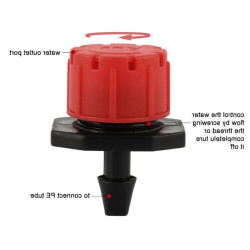 100 Adjustable Micro Irrigation Emitter Dripper